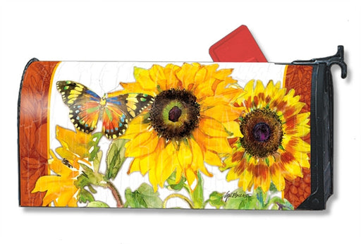 GOLDEN SUNFLOWERS MAILBOX COVER