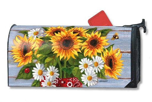 BANDANA SUNFLOWER MAILBOX COVER