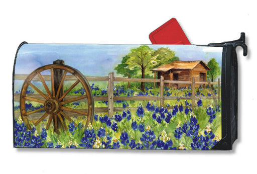 BLUEBONNETS MAILBOX COVER