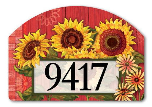 RED BARN SUNFLOWERS MAGNETIC ADDRESS