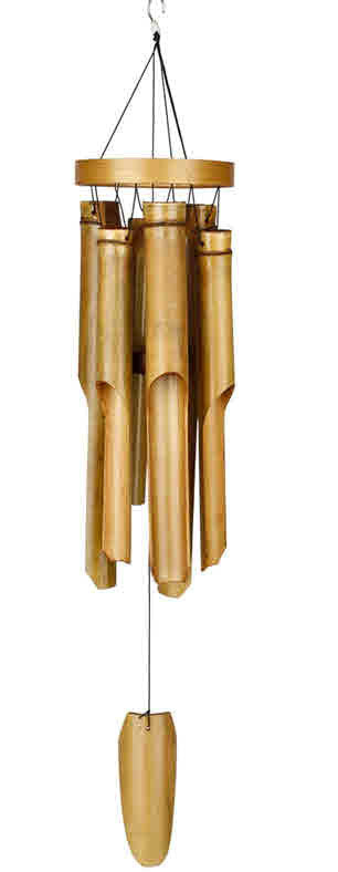 NATURAL RING BAMBOO WOODSTOCK WINDCHIME