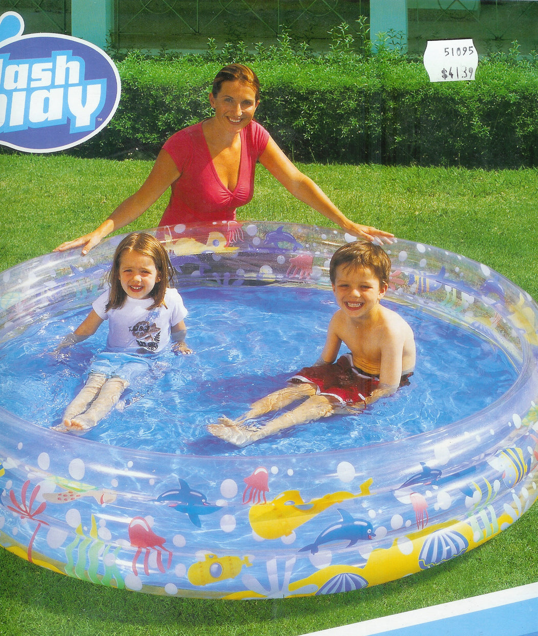 "INFLATABLE 3 RING POOL DEEP SEA 72"" X 13"""