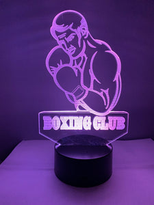 Lampe 3D DEL Club de Boxe (Boxing club)