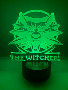Lampe 3D DEL Logo The Witcher