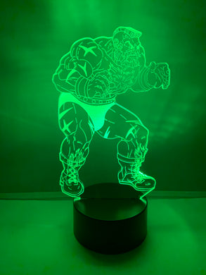 Lampe 3D DEL Zangief Street Fighter