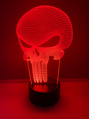 Lampe 3D DEL The Punisher
