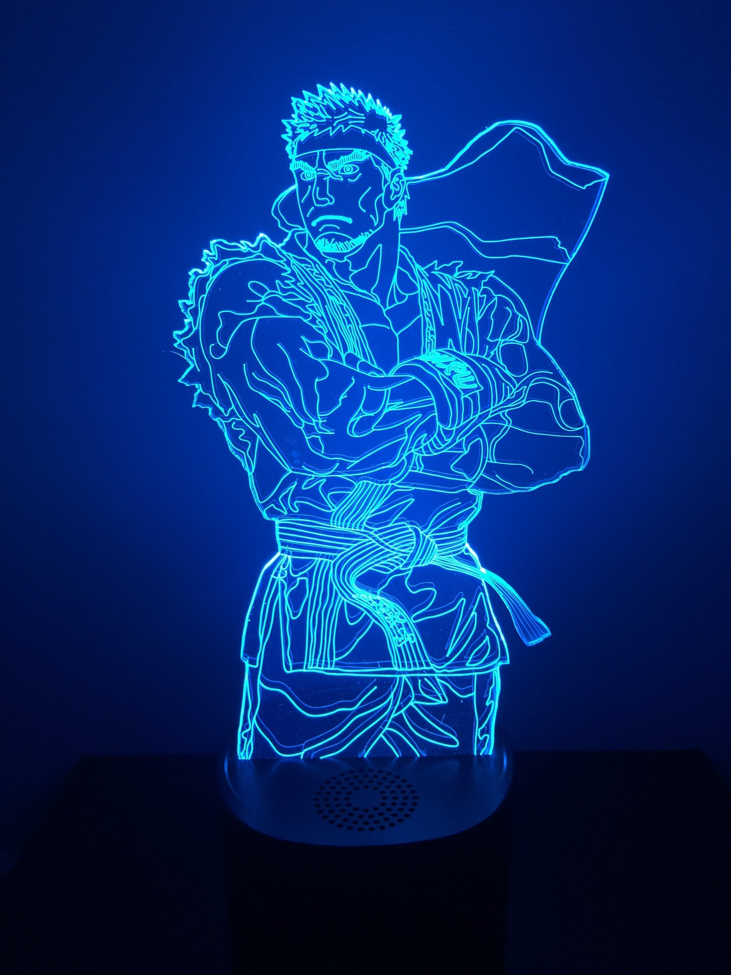 Lampe Haut Parleur Bluetooth 3D DEL Ryu Street Fighter