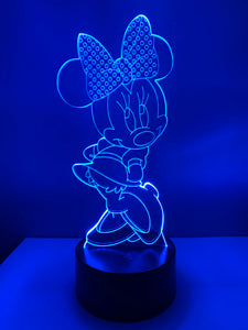 Lampe 3D DEL Minnie Mouse