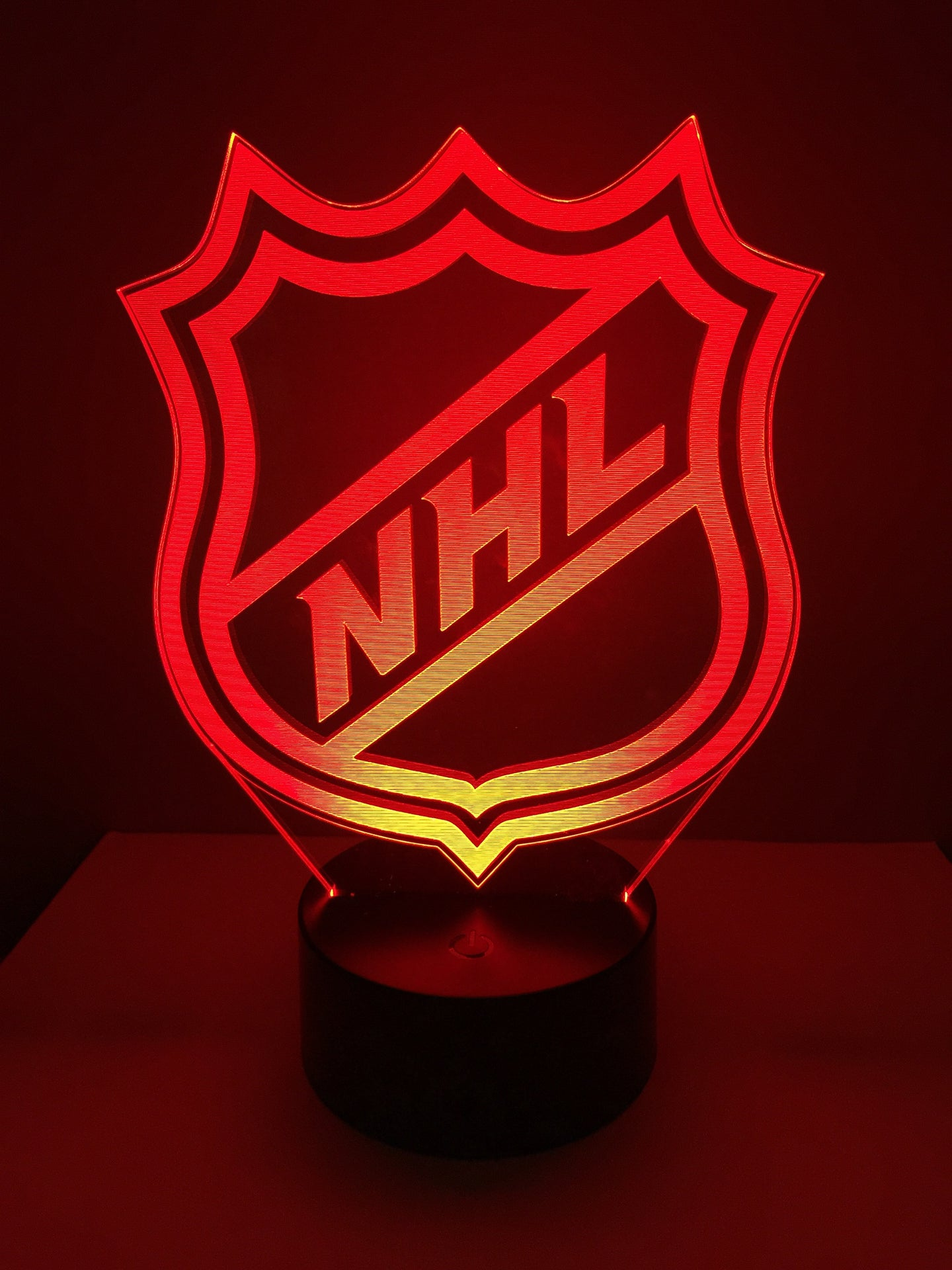 Lampe 3D DEL Hockey Logo NHL