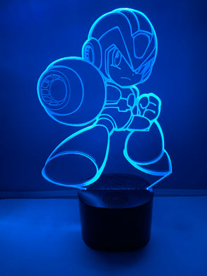 Lampe Haut Parleur Bluetooth 3D DEL Mega Man X Powered Up (Megaman)