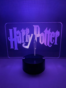 Lampe 3D DEL Harry Potter Logo