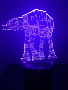 Lampe Haut Parleur Bluetooth 3D DEL AT-AT Star Wars