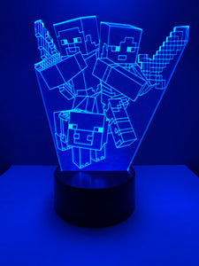 Lampe 3D DEL Minecraft Personnages