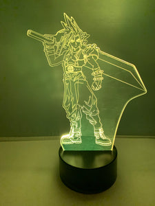 Lampe 3D DEL Cloud Final Fantasy