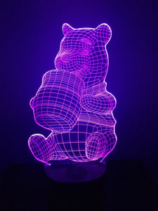 Lampe Haut Parleur Bluetooth 3D DEL Winnie l'ourson