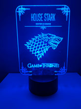 Lampe 3D DEL Game of thrones House Stark