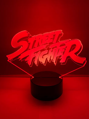 Lampe 3D DEL Logo Street Fighter