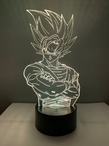 Lampe 3D DEL Goku Dragon Ball
