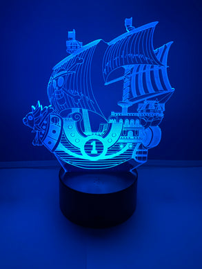 Lampe 3D DEL Bateau Pirate One Piece 🏴‍☠️