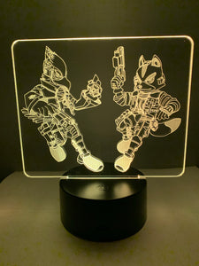 Lampe 3D DEL Star Fox (Fox et Falco)
