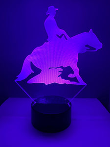 Lampe 3D DEL Cheval Reining