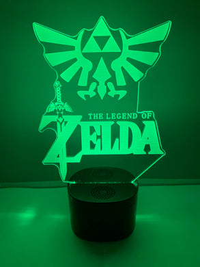 Lampe Haut Parleur Bluetooth 3D DEL The Legend Of Zelda - Hyrule Crest