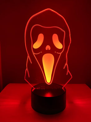 Lampe 3D DEL Masque de Frisson (Film Scream)