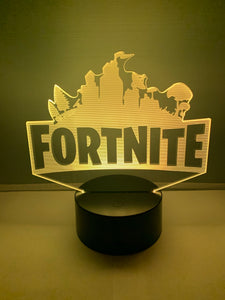 Lampe 3D DEL Logo Fortnite