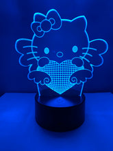 Lampe 3D DEL Chat Hello Kitty