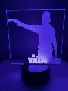 Lampe 3D DEL Rick Grimes The Walking Dead