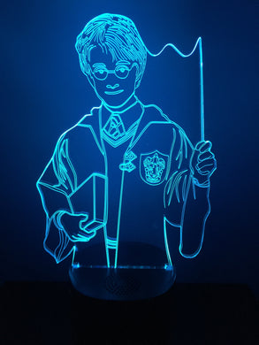 Lampe Haut Parleur Bluetooth 3D DEL Harry Potter
