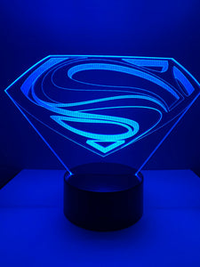 Lampe 3D DEL Logo Superman