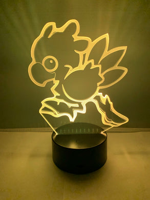Lampe 3D DEL Final Fantasy Chocobo