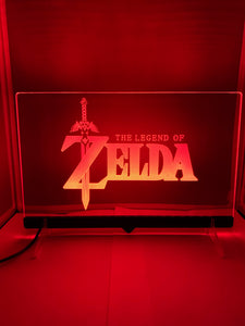 Enseigne DEL The Legend Of Zelda avec support