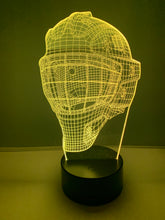 Lampe 3D DEL Hockey Casque de Gardien de but
