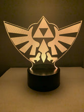 Lampe 3D DEL The Legend Of Zelda (Hylian Crest)