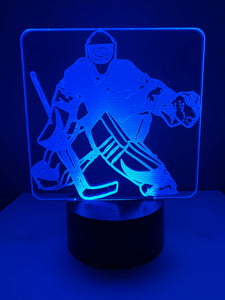 Lampe 3D DEL Hockey Gardien de but