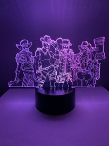 Lampe 3D DEL Fortnite Personnages