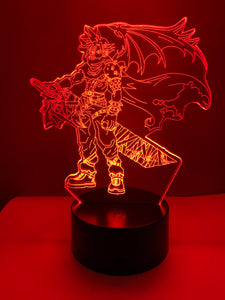 Lampe 3D DEL Final Fantasy Cloud