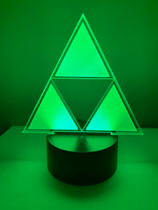 Lampe 3D DEL Triforce Legend Of Zelda
