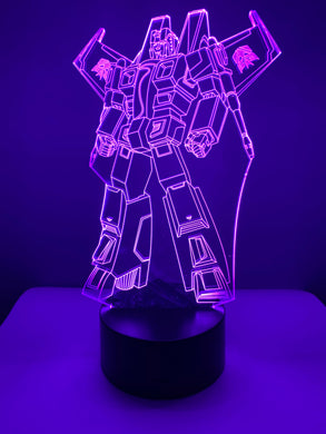 Lampe 3D DEL Starscream Transformer