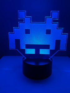 Lampe 3D DEL Alien Space Invaders Arcade