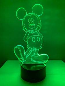 Lampe 3D DEL Mickey Mouse