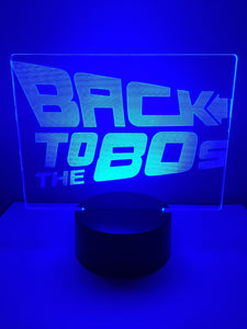 Lampe 3D DEL Back to the 80's