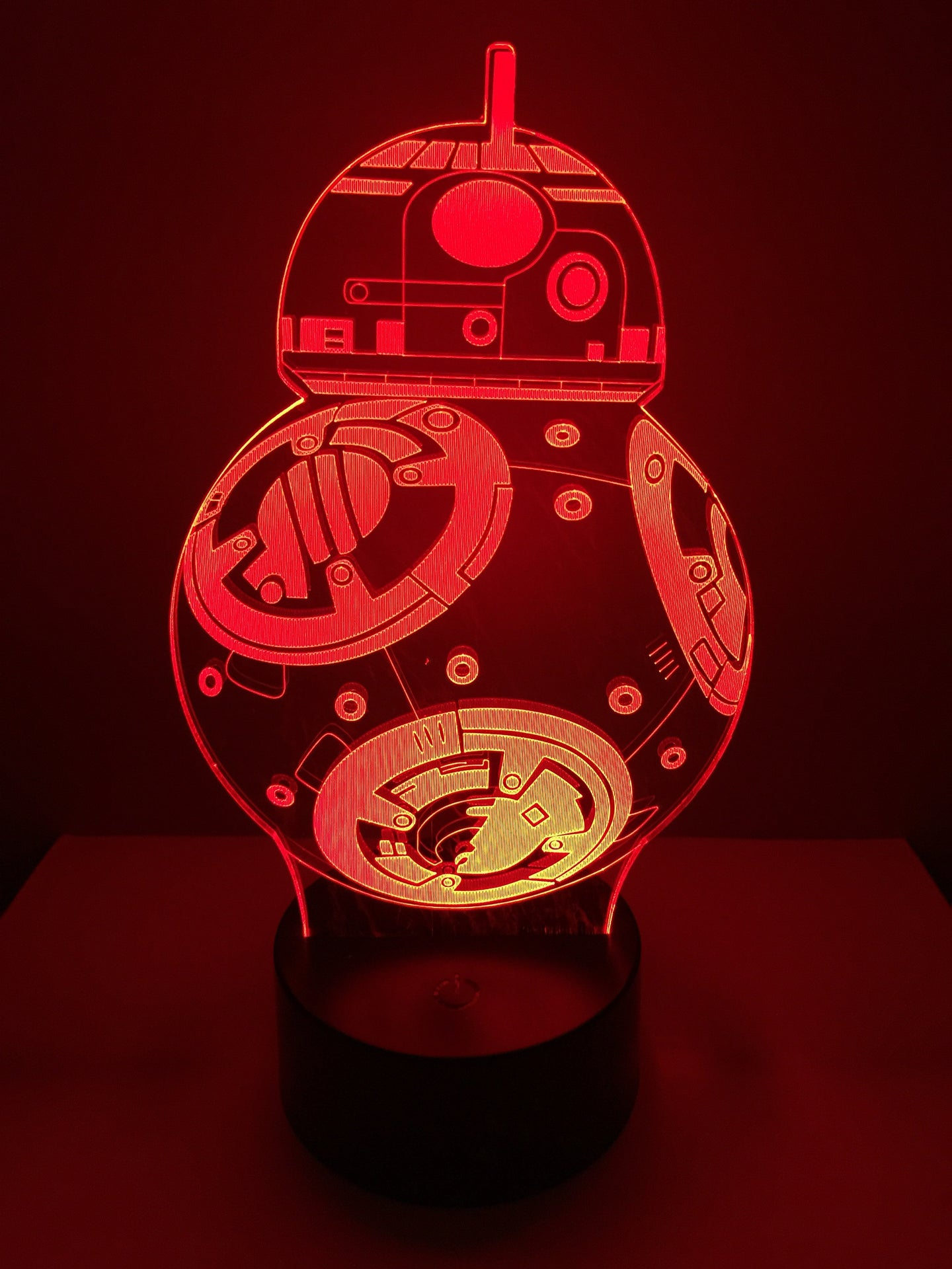 Lampe 3D DEL BB8 Star Wars