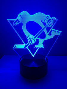 Lampe 3D DEL Hockey Les Penguins de Pittsburgh