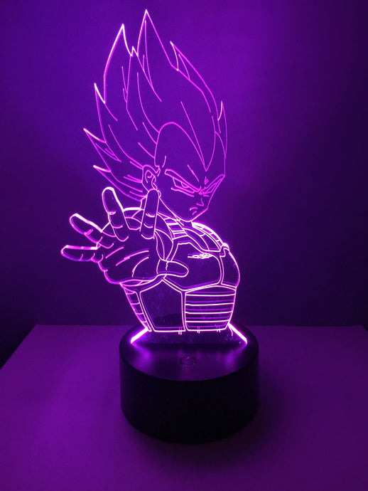 Lampe 3D DEL Vegeta Dragon Ball