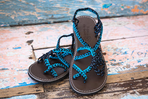Bora Bora - Deep Blue Sea - Gypsy Isle Trading Handmade Sandals