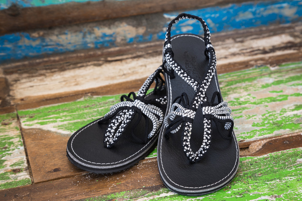 Cayman - Night Zebra - Gypsy Isle Trading Handmade Sandals