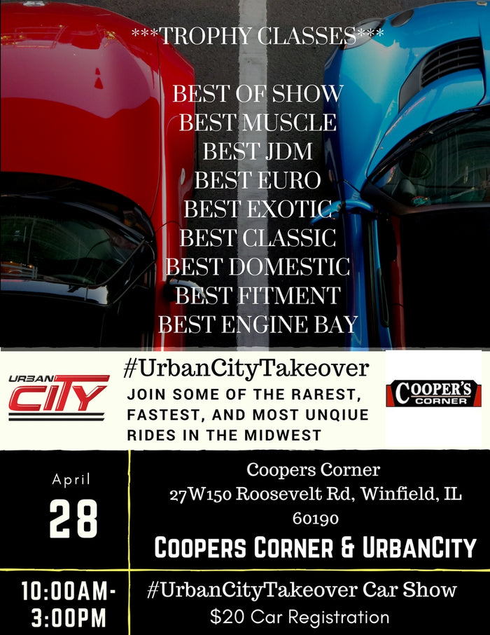 #UrbanCityTakeover Spring Car Show 4.28. (completed)